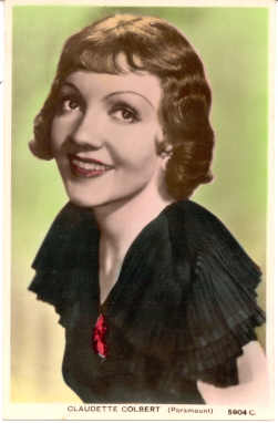 mov215002 - Claudette Colbert Actor / Actress Postcard Post Card Old Vintage Antique Movie Star