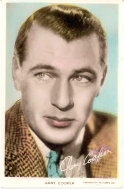 mov230001 - Gary Cooper Actor / Actress Postcard Post Card Old Vintage Antique Movie Star