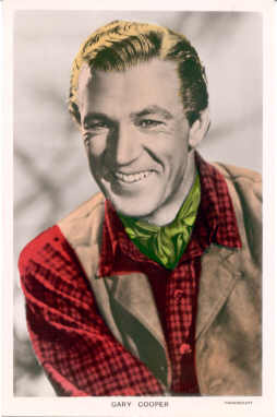 mov230003 - Gary Cooper Actor / Actress Postcard Post Card Old Vintage Antique Movie Star