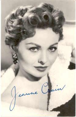 mov240001 - Jeanne Crain Actor / Actress Postcard Post Card Old Vintage Antique Movie Star