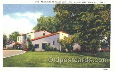 Billie Dove, Toluca Lake, Hollywood, CA USA