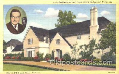 msh001012 - Bob Hope, Hollywood, CA Movie Star Homes Postcard Postcards