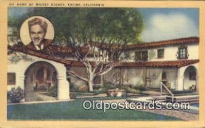 msh001032 - Michey Rooney, Encino, CA, USA Movie Star, Actor / Actress, Post Card Postcard