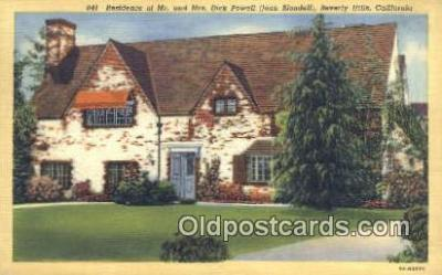 msh001061 - Dick Powell & Joan Blondell, Beverely Hills, CA Movie Star, Actor / Actress, Post Card Postcard