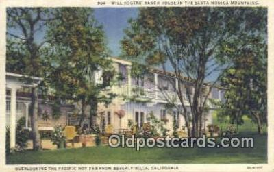 msh001070 - Will Rogers, Santa Monica, CA, USA Movie Star, Actor / Actress, Post Card Postcard