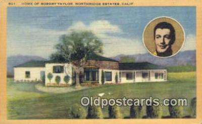msh001087 - Robert Taylor, Northridge Estates, CA Movie Star, Actor / Actress, Post Card Postcard