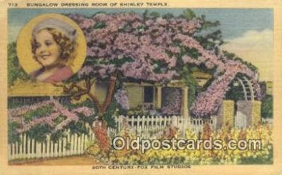 msh001104 - Dressing Room for Shirley Temple Movie Star, Actor / Actress, Post Card Postcard