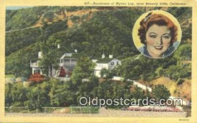 msh001107 - Myrna Loy, Near Beverly Hills, CA, USA Movie Star, Actor / Actress, Post Card Postcard