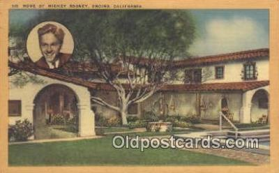 msh001114 - Mickey Rooney, Encino, CA Movie Star, Actor / Actress, Post Card Postcard