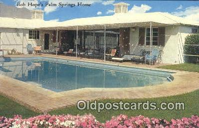 msh001123 - Bob Hope, Palm Springs, CA, USA Movie Star, Actor / Actress, Post Card Postcard