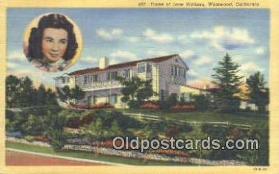 msh001130 - Jane Withers, Westwood, Los Angeles, CA Movie Star, Actor / Actress, Post Card Postcard