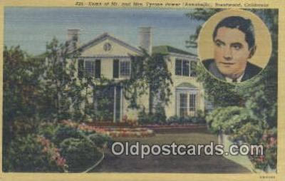 msh001131 - Tyrone Power, Brentwood, CA, USA Movie Star, Actor / Actress, Post Card Postcard