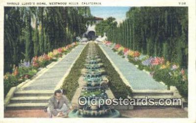msh001137 - Harrold Lloyd, Westwood Hills, CA, USA Movie Star, Actor / Actress, Post Card Postcard