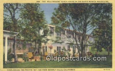 msh001139 - Will Rogers, Santa Monica, CA, USA Movie Star, Actor / Actress, Post Card Postcard