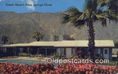 msh001143 - Dinah Shore, Palm Spring, USA Movie Star, Actor / Actress, Post Card Postcard