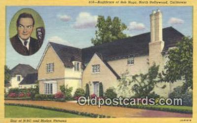msh001144 - Bob Hope, North Hollywood, CA, USA Movie Star, Actor / Actress, Post Card Postcard