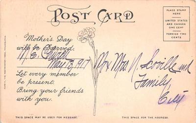 mth000043 - Mothers Day Old Vintage Postcard Post Card  back