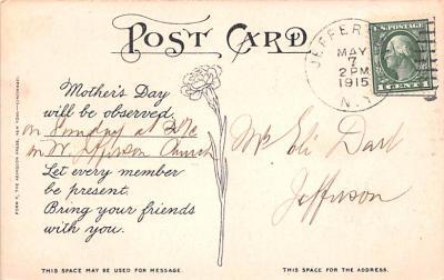 mth000049 - Mothers Day Old Vintage Postcard Post Card  back