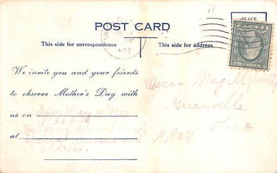 mth000055 - Mothers Day Old Vintage Postcard Post Card  back