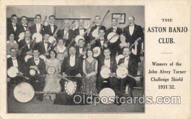 mus001004 - The Aston Banjo Orchestra Postcard Postcards