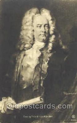 mus001017 - Geory Friedrich Handel Music, Musician, Composer, Postcard Postcards