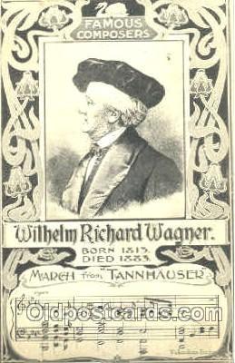 mus001025 - Willhelm Richard Wagner Music, Musician, Composer, Postcard Postcards