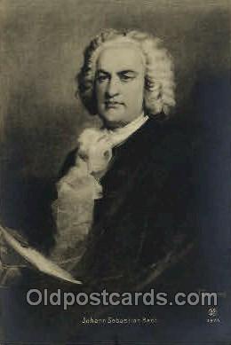 mus001088 - Johann Sebastian Bach Music, Musician, Composer, Postcard Postcards