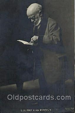 Professor A von Menzel