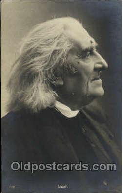 mus001140 - Liszt Music, Musician, Composer, Postcard Postcards