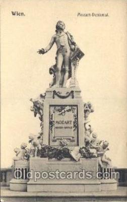 mus002034 - Mozart-Denkmal Music Postcard Postcards