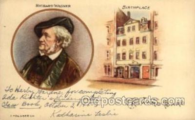 mus002137 - Richard Wagner  Postcard Post Cards Old Vintage Antique