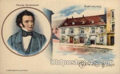 mus002144 - Franz Schubert  Postcard Post Cards Old Vintage Antique