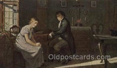 mus002167 - Danische Kunst, Beethoven  Postcard Post Cards Old Vintage Antique