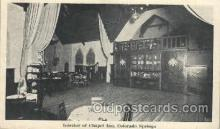 MTL001025 - Interior of Chapel Inn Colorado Springs, CO, USA Postcard Post Cards Old Vintage Antique