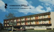 MTL001058 - Chambersburg, Travel lodge, Chambersburg, Pa, USA Motel Hotel Postcard Postcards