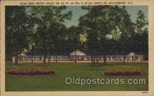 MTL001067 - Blue Bird Motor Court, Waterboro, South Carolina S.C. USA Motel Hotel Postcard Postcards