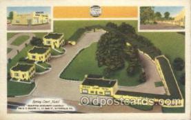 MTL001071 - Spring Court Motel, Wytheville,Va, USA Motel Hotel Postcard Postcards