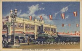 MTL001085 - Commercial Hotel, Tijuana, Mexico Motel Hotel Postcard Postcards