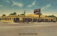 MTL001096 - Rip van winkle Apartment Motel, Los Angeles, California, Usa Motel Hotel Postcard Postcards