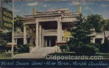 MTL001100 - Hotel Queen Anne, New Bern, North Carolina, USA Motel Hotel Postcard Postcards