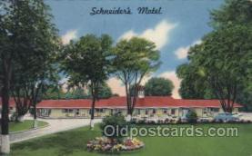 MTL001118 - Schneider's Motel, Westlake, Ohio, USA Motel Hotel Postcard Postcards