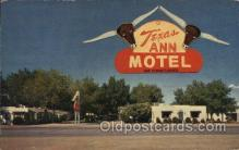 MTL001132 - Texas Ann hotel, Albuquerque, New Mexico N.M., USA Motel Hotel Postcard Postcards