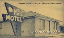 MTL001141 - Mallory Manor Motel Denver Colorado USA, Hotel Postcard Postcards