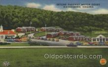 MTL001145 - Skyline Parkway motor Court, Waynesboro, Virginia, USA Motel Hotel Postcard Postcards