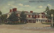 MTL001147 - Williamsburg Lodge, Williamsburg, Virginia, VA, USA Motel Hotel Postcard Postcards