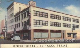 MTL001150 - Knox Hotel, El Paso, Texas, USA Motel Hotel Postcard Postcards