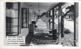 MTL001176 - Skyline Hotel, San Antonio, Texas, USA Motel Hotel Postcard Postcards