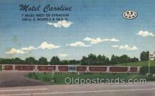 MTL001191 - Motel Caroline, Camillus, New York, NY, USA Motel Hotel Postcard Postcards