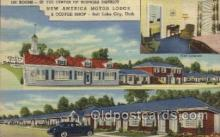 MTL001203 - New America Motor Lodge, Salt Lake City, Utah, USA Motel Hotel Postcard Postcards