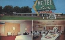 MTL001205 - Leon Motel, Dothan, Alabama, USA Motel Hotel Postcard Postcards